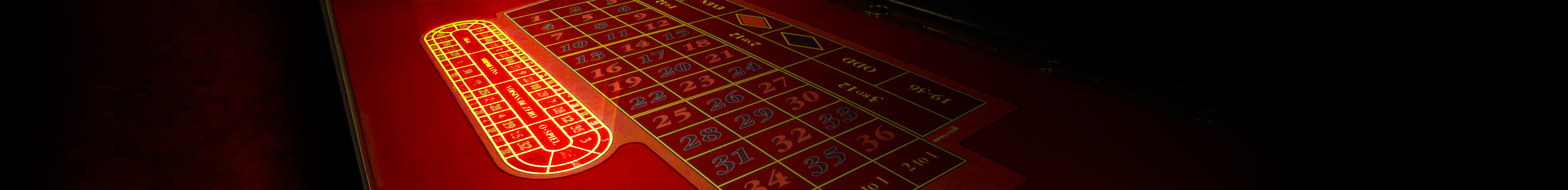 Special bets on the racetrack in roulette